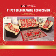 11 Pcs Gold Drawing Room Combo