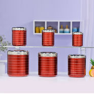 6 Pcs Big Steel Storage Set
