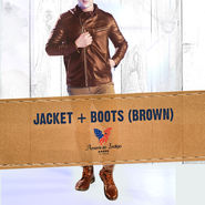 American Indigo Jacket + Boots - Brown