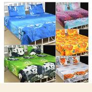 Apni Manpasand 3D Bedsheet Chune + 2 Takiya Cover