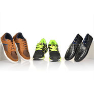 Bacca Bucci 3 Shoes Combo (Sports Shoes + Semi Formals + Casual Shoes)