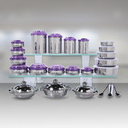 Kitchen Queen 43 Pcs Coloured Stainless Steel Storage Set