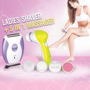 Ladies Shaver + 5 in 1 Massager