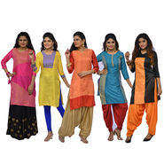 Pack of 5 Brocade Kurti by Pakhi (5BK1)