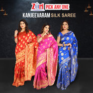 Pick Any One Kanjeevaram Silk Saree by Zuri (KSS12)
