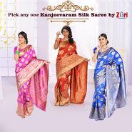 Pick Any One Kanjeevaram Silk Saree by Zuri (KSS9)