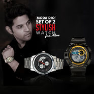 Set of 2 Stylish Watch for Men