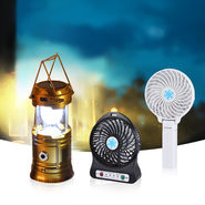 Solar Lantern + Personal Fan + Table Fan