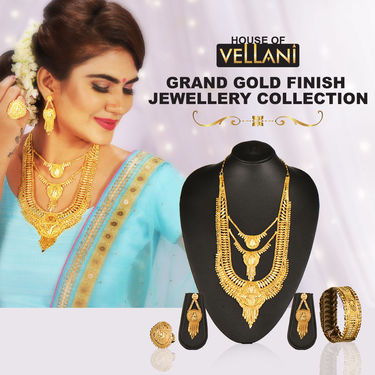 Grand Gold Finish Jewellery Collection
