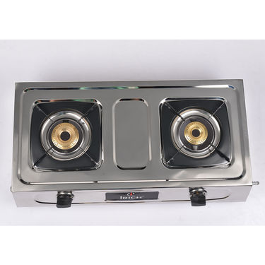 Irich 2 Burner Stainless Steel Gas Stove