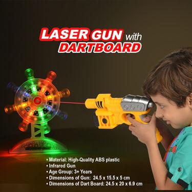 Laser Gun with Dart Board