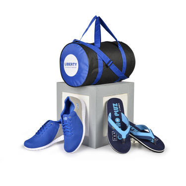 Liberty Trendy Shoes + Ortho Pluz Slippers + Multipurpose Bag (C5)