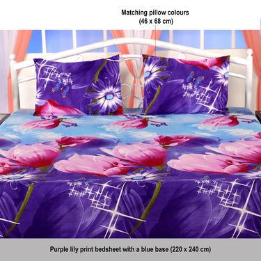 Set of 5 Colorful Floral 3D Bedsheets (5BS11)