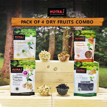 Nutraj Pack of 4 Dry Fruits Combo