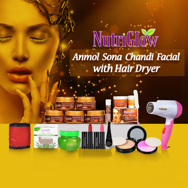 Nutriglow Anmol Sona Chandi Facial with Hair Dryer