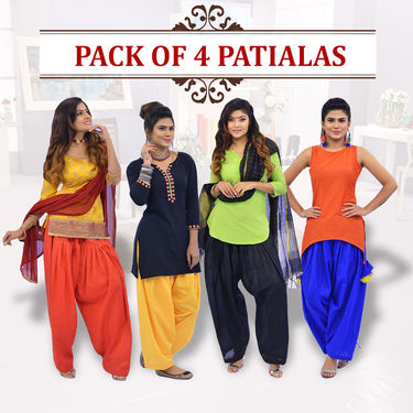 Pack of 4 Patialas by Stylexa (4P1)