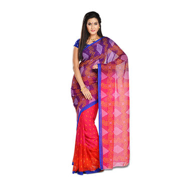 Pack of 7 Assorted Printed Georgette Sarees by Pakhi (7G39)