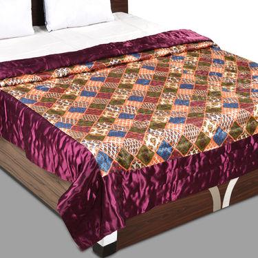 Patchwork Print Double Silk Razai