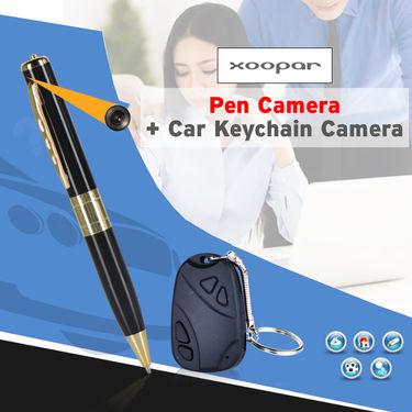 Pen Camera + Car Keychain Camera