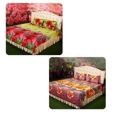 Phoolon Ki Bahaar - 8 Bedsheet Ka Set (4DSBS16)