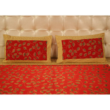 Pick Any One 100% Cotton Gold Print Double Bedsheet Set