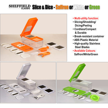 Sheffield Slice & Dice - Saffron or White or Green