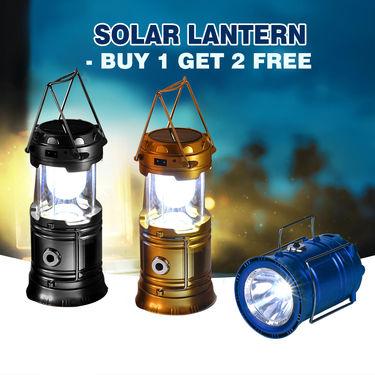 Solar Lantern - Buy 1 Get 2 Free