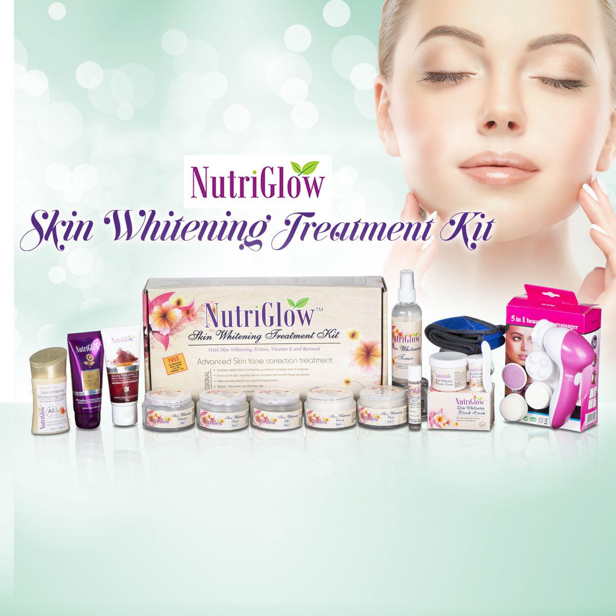 Nutriglow Skin Whitening Treatment Kit