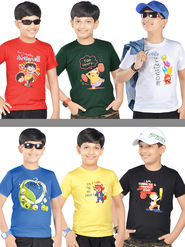 American Indigo 6 Graphic T-Shirts for Boys