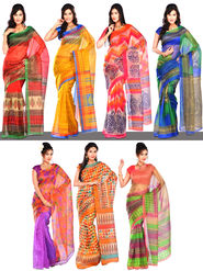 Shruti Set of 7 Kota Doria Sarees by Varanga